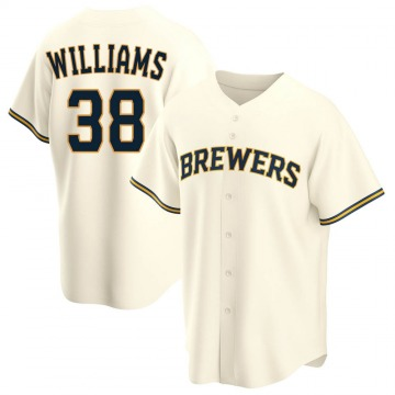 Youth Devin Williams Milwaukee Brewers Replica Cream Home Jersey